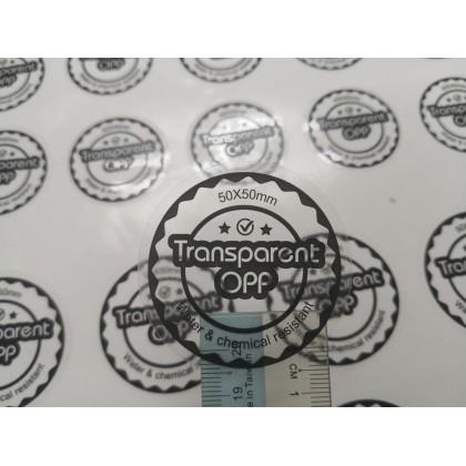Transparent Opp (Rectangle) - Direct Print
