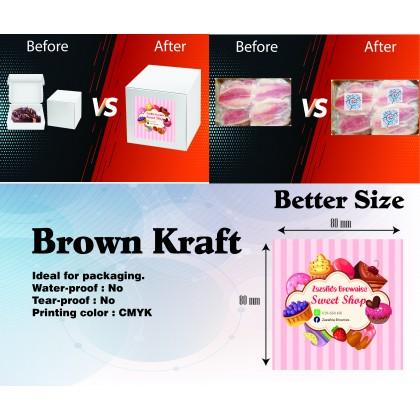 Brown Kraft (Round/Square) - Direct Print