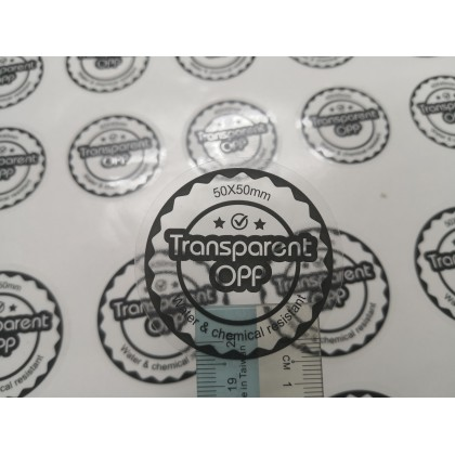 Transparent Opp (Round/Square) - Direct Print